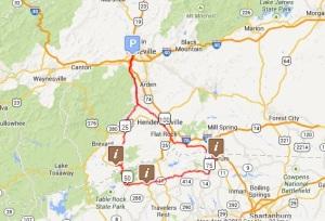 Ceasar's Saluda Loop map